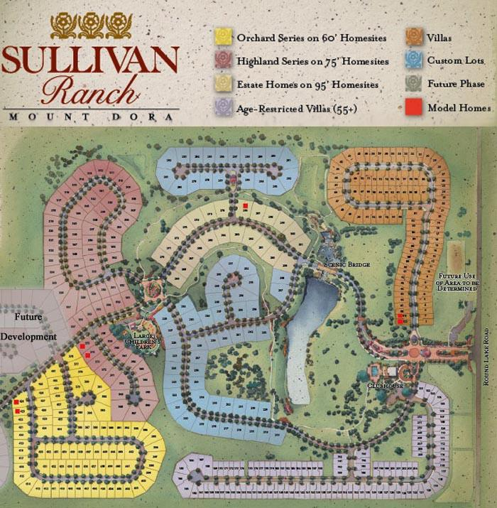 Lake Dora Florida Map.Sullivan Ranch Homes For Sale Sullivan Ranch Mount Dora Fl